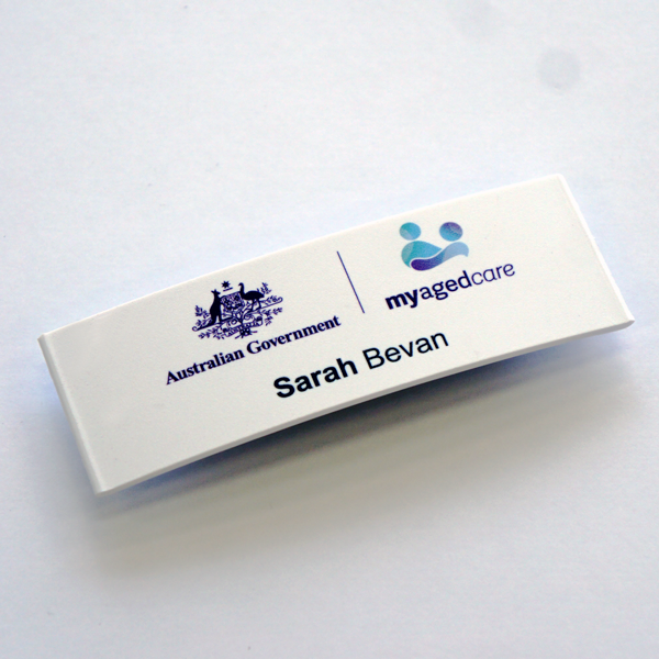 Curve25 Name Badge