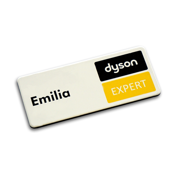 White Metal Name Badge