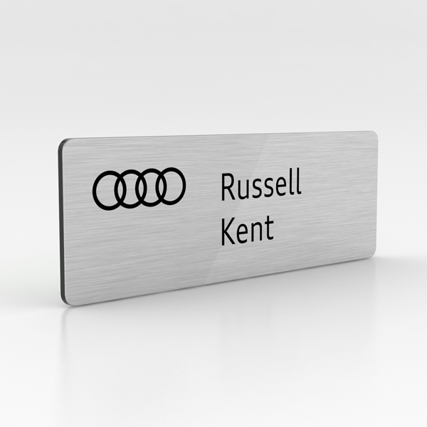 Silver Metal Name Badge